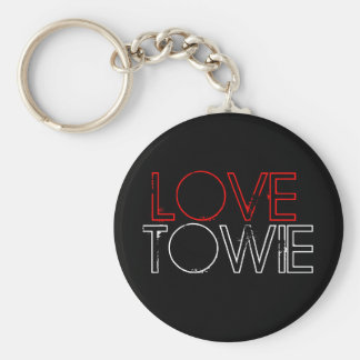 Love Towie Basic Round Button Key Ring