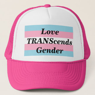Love TRANScends Pride Hot Pink Hat