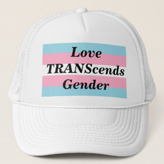 Love TRANScends Pride White Hat