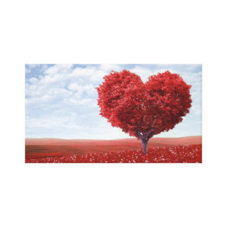 Love tree canvas print