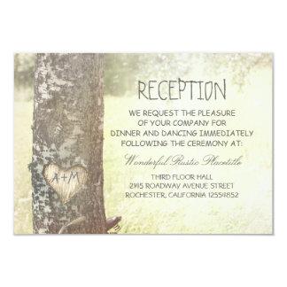 love tree countryside wedding Reception cards 9 Cm X 13 Cm Invitation Card