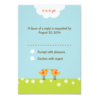 Love Tree (Day) RSVP 9 Cm X 13 Cm Invitation Card