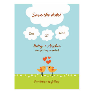 Love Tree (Day) Save the Date Postcard