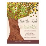 Love Tree Falling Heart Leaves Save the Date 11 Cm X 14 Cm Invitation Card