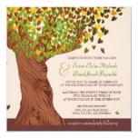 Love Tree Falling Heart Leaves Wedding Invite