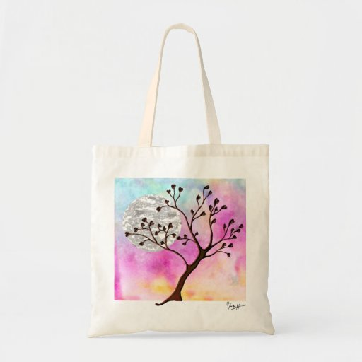Love Tree - Heart-Shaped Leaves Canvas Bag