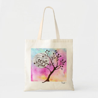 Love Tree - Heart-Shaped Leaves Budget Tote Bag