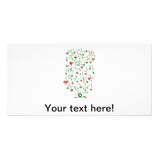 Love tree illustration picture card