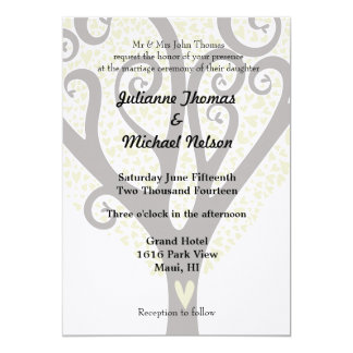 "Love Tree 5"" X 7"" Invitation Card"