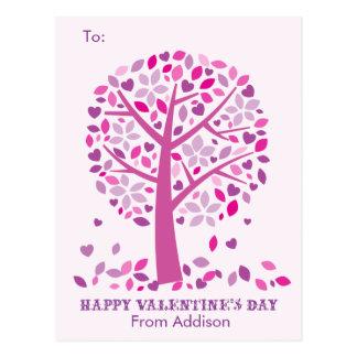 Love Tree Kids School Classroom Valentine Cards Postcard
