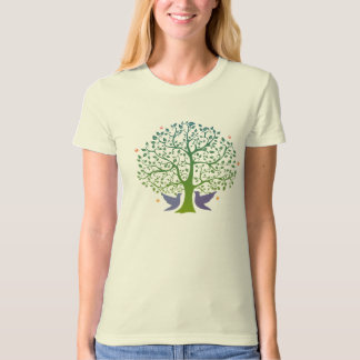 Love Tree Ladies Organic T-Shirt (Fitted), Natural