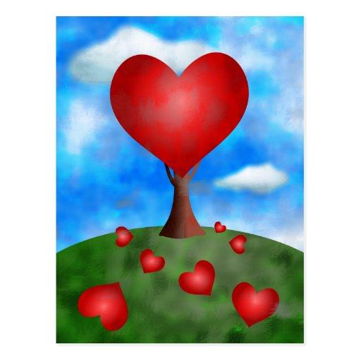 love-tree post card