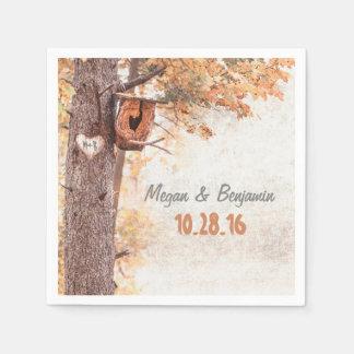 Love Tree Rustic Fall Wedding Disposable Serviette