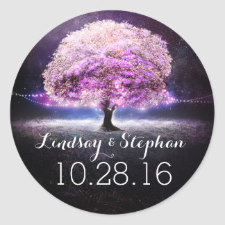 love tree string lights wedding stickers