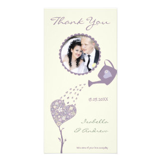 Love Tree - Vintage Soft Tones -Wedding Thank You Photo Card