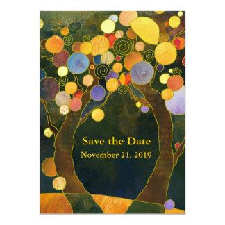 Love Trees Art Nouveau Wedding 13 Cm X 18 Cm Invitation Card