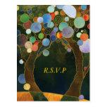 Love Trees Blue Elegant Wedding RSVP (4.25x5.6)
