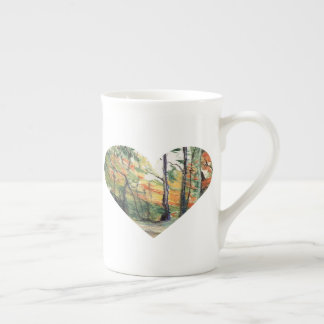 Love Trees in Autumn Colours Tea Cup