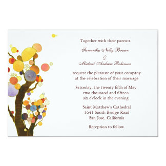 Love Trees(in White): Wedding Invitations