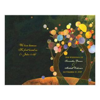 Love Trees Rustic Wedding Program Flyer