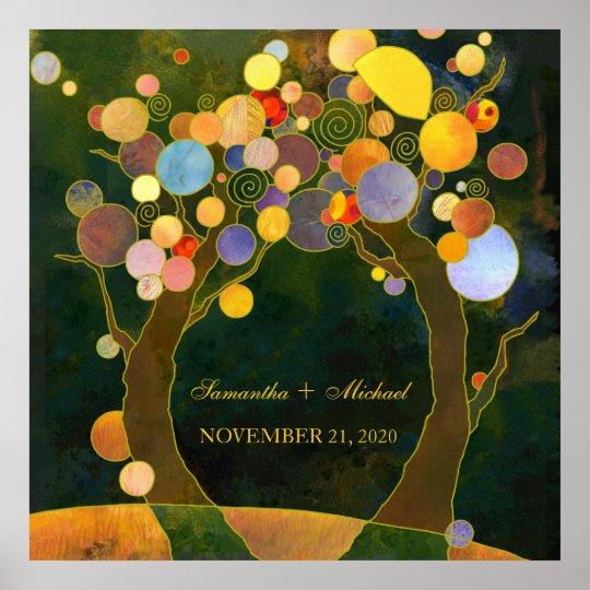 Love Trees, Symbol of Love Wedding Ceremony Poster