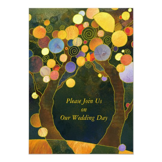 Love Trees, Symbols of Love Wedding Card