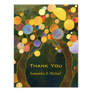 Love Trees Unique Wedding Thank You 11 Cm X 14 Cm Invitation Card