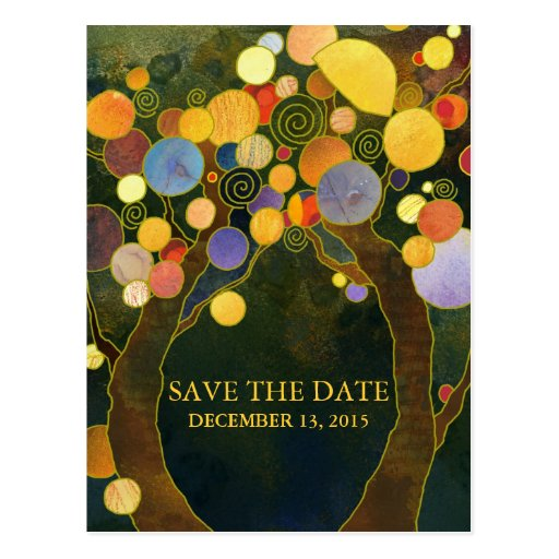 Love Trees Wedding Save the Date Postcards