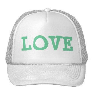 Love trucker hat green