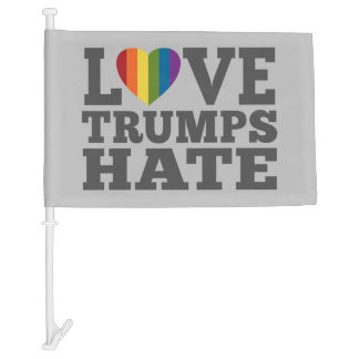 Love Trumps Hate - Anti Donald Trump Car Flag