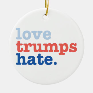 love trumps hate christmas ornament
