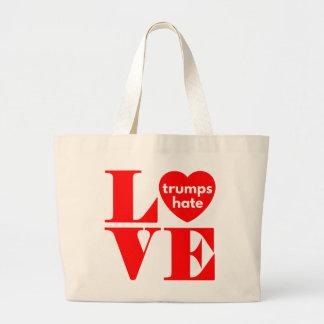 Love Trumps Hate Large Tote Bag