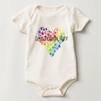 Love Trumps Hate Organic Baby Bodysuit