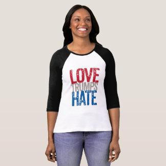Love Trumps Hate Raglan tee