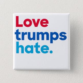 Love trumps hate. square button