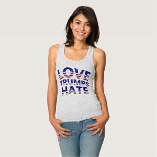 Love Trumps Hate Stars and Stripes Tank Top