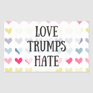Love trumps hate (sticker) rectangular sticker