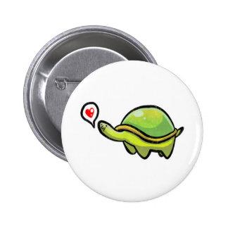 Love Turtle 6 Cm Round Badge