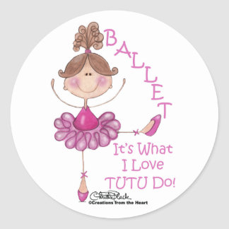"Love ""TUTU"" Do! Round Sticker"