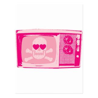 LOVE-TV-PINK POSTCARD