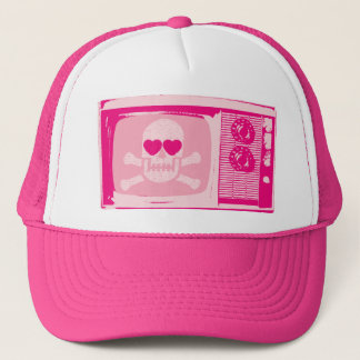LOVE-TV-PINK TRUCKER HAT