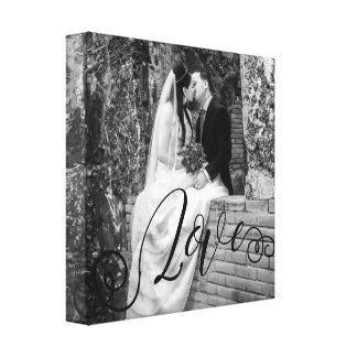LOVE Typography Photo Overlay Canvas Print
