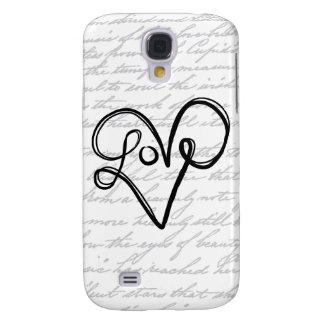 Love Typography Text Art Galaxy S4 Case
