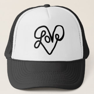 Love Typography Text Art Trucker Hat