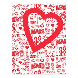 love u postcard