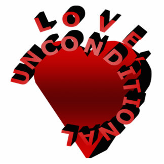 Love Unconditional Pin Photo Sculpture Badge