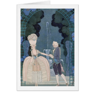 Love under the Fountain, illustration for 'Fetes G Card