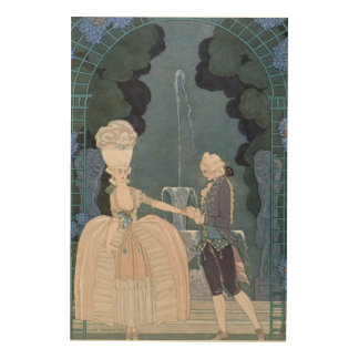Love under the Fountain, illustration for 'Fetes G Wood Wall Decor