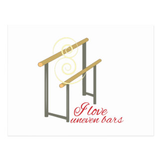 Love Uneven Bars Post Card