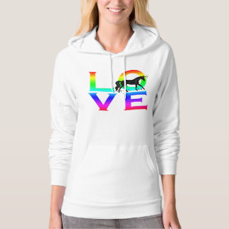 LOVE: Unicorn with Stars Hoodie